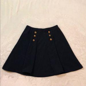 Navy Blue Nautical Skater Skirt
